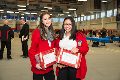 two female students at the SkillsUSA Championship