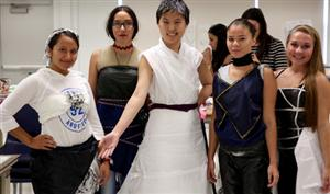 Recycled dress competition