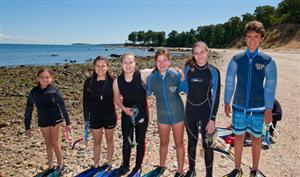 kids on the beach for boces summer camp program