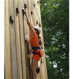 """The Wall"" is a 32-foot high structure with climbing and rappelling routes which present the student with a level of challenge suited to his or her abilities and desires."