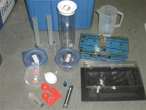 Oceanography equipment is displayed
