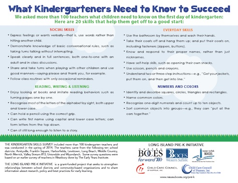 What Kindergarteners Need to Know to Succeed