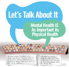 graphic that says mental health is as important as physical health
