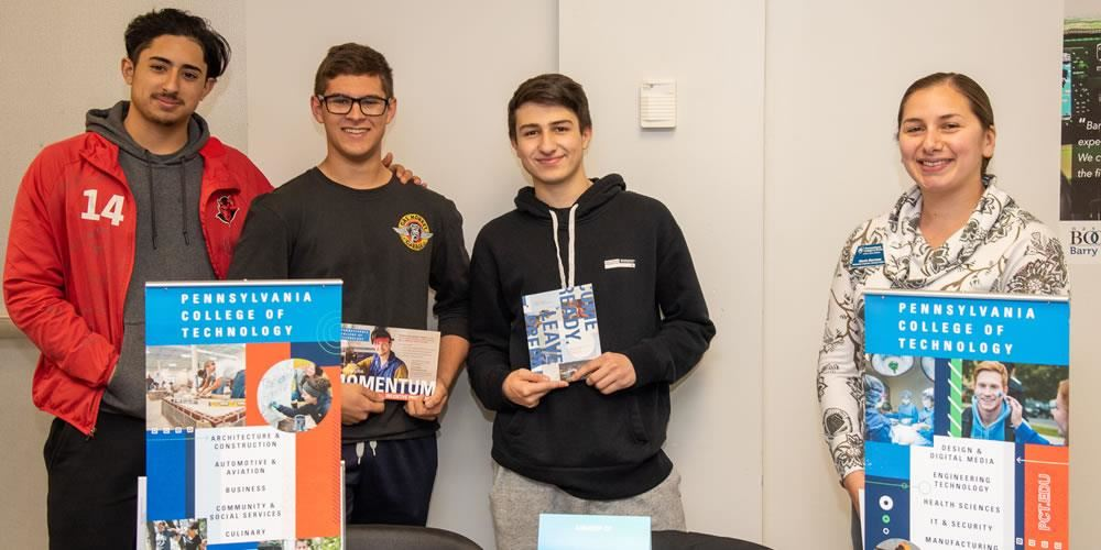 Students get information about Pennsylvania Institute of Technology at Barry Tech's Annual College a