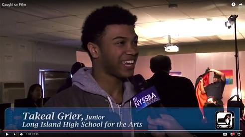 LIHSA student Ta'Keal Grier interviewed by NYSSBA