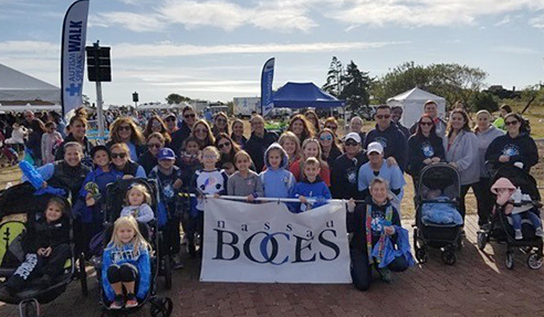 Team Nassau BOCES at the 2019 Autism Speaks Walk