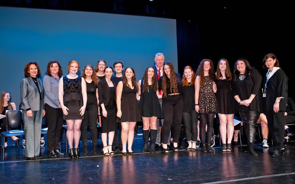 Nassau BOCES Long Island High School for the Arts Dance students were inducted into the National Honor Society for Dance Arts
