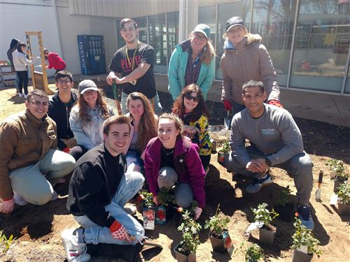 Long Island High School for the Arts wins grant to establish a monarch butterfly habitat to enhance newly planted Peace Garden