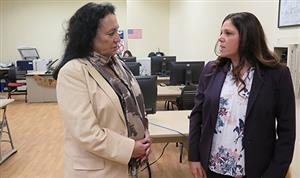 Chancellor Betty Rosa visits Iris Wolfson High School