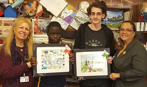 recycles art winners