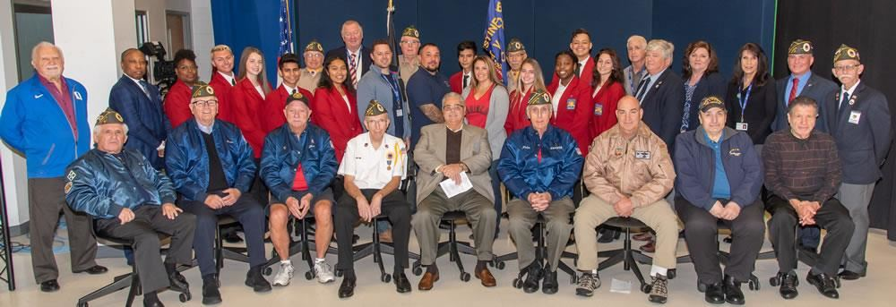 Barry Tech staff and students salute veterans during annual ceremony.