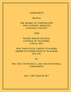 Physical and Occupational Therapists Contract