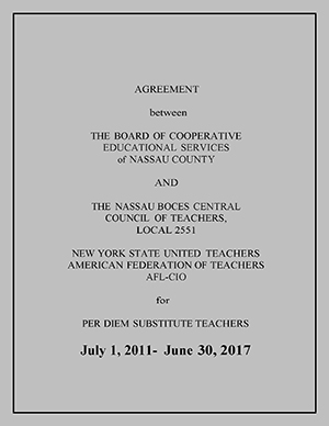 Per Diem Substitute Teachers Contract