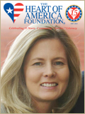 Heart of America Foundation logo with leadership headshot