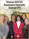 Nassau BOCES Rosemary Kennedy School PTA title with group photo