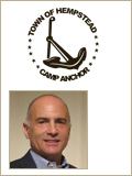Town of Hempstead Camp Anchor logo with leadership headshot