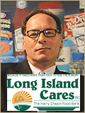 Long Island Cares logo with leadership headshot