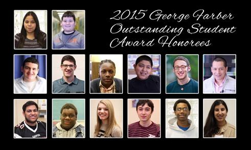 2015 George Farber Outstanding Student Award Honorees