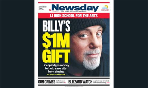 Billy Joel Newsday cover