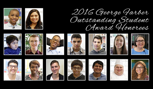 2016 George Farber Outstanding Student Award Honorees
