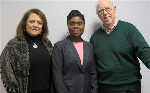 Carol Muscarella, Laverne Mitchell and Michael Keany