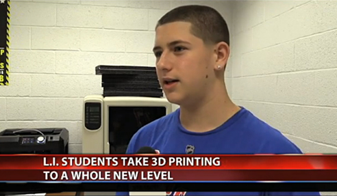 Student interviewed on local TV