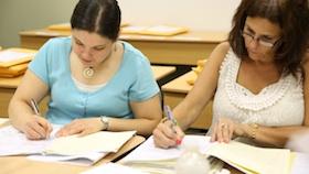 teachers grading exams